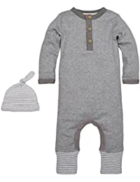 Baby Convertible Foot Organic Coverall with Hat