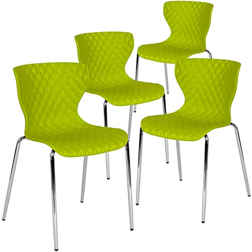 (Flash Furniture 4-LF-7-07C-CGRN-GG Home & Office Chairs, 4 Pack, Citrus Green)