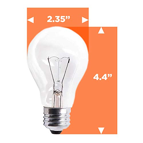 GoodBulb 60 Watt Light Bulbs, Dimmable A19 Bulb with E26 Base, Rough Service Bulb, Clear Energy-Efficient Incandescent Bulbs, 525 Lumens, 130 Volts, for Various Light Fixtures (24 Pack) by GoodBulb (Image #4)