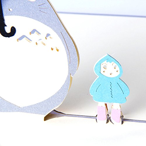 Paper Spiritz Totoro 3d Pop Up Greeting Card Postcard Matching