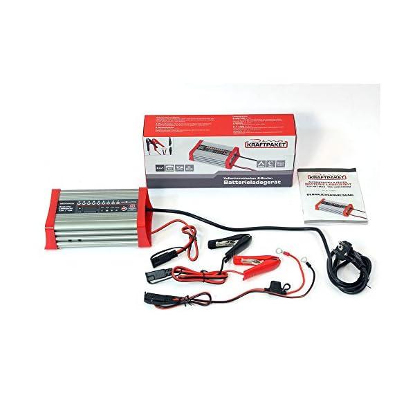 41Cc hAZ9bL Dino KRAFTPAKET 136321 Batterieladegerät 10A-12V mit Camping-Funktion Nachtmodus und Memory-Speicher für KFZ PKW Auto…