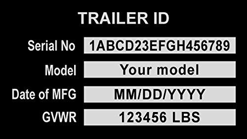 (LVCE Custom Engraved Aluminum Trailer id Plate)