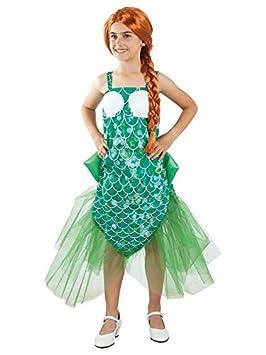 DISBACANAL Disfraz de Sirena para niña - Único, 6 años ...