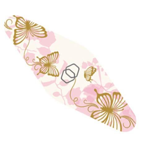 取り付け返還広々ダイヤモンドネイルファイル キャリー ピンク蝶々