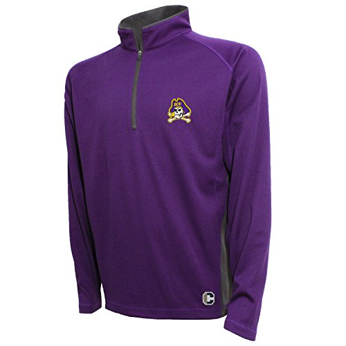 NCAA East Carolina Pirates Men's Textured Quarter Zip Pullover, Large, (Ecu Pirates)
