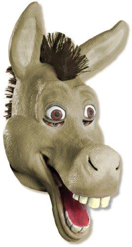 [Shrek 3/4 Vinyl Mask, Donkey, Brown, Standard] (Vinyl Halloween Costumes Mask)