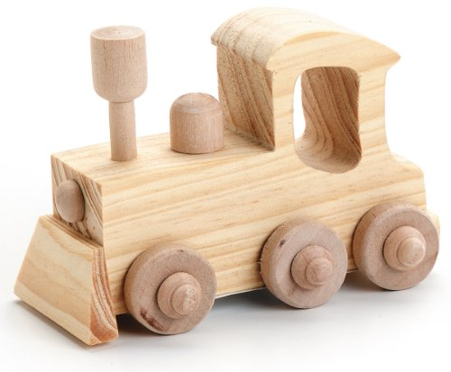 Darice 9163-52 Wood Locomotive Craft