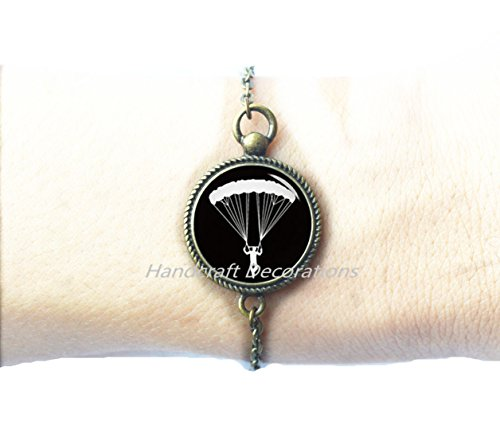 Skydiving Bracelet, Skydiver Jewelry,Military Skydiving, Military Bracelet, Parachuting Bracelet,glass jewelry Best friend Bracelet.F198 Diver Military Bracelet