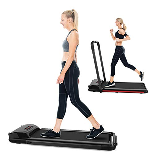 SHAREWIN 2 in 1 Folding Treadmill for Home Under Desk Electric Treadmill Workout Foldable Running Machine Portable Compact Treadmill for Running and Walking Exercise 2.25HP