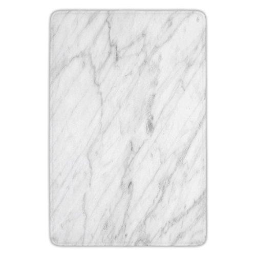 Bathroom Bath Rug Kitchen Floor Mat Carpet,Marble,Carrara Marble Tile Surface Organic Sculpture Style Granite Model Modern Design,Dust Grey White,Flannel Microfiber Non-slip Soft Absorbent