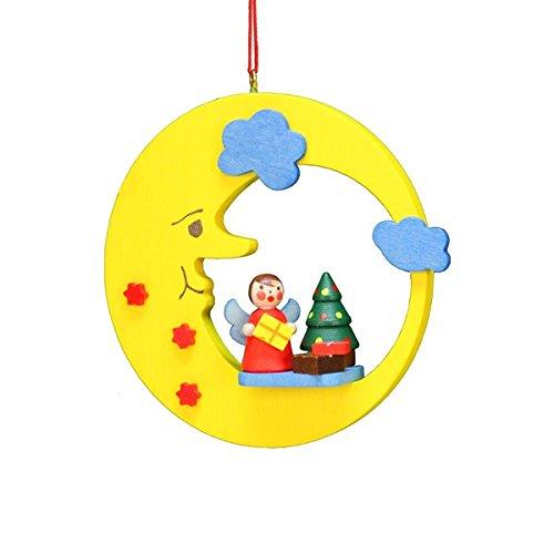 Alexander Taron 10-0596 Christian Ulbricht Ornament-Angel with Tree in Moon H x 3.5