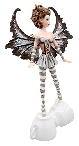 Ebros Gift Amy Brown Cute Teacup Coffee Fairy Figurine Brown Espresso Lovers Faerie Figure 7.25 H Fantasy FAE Legends Latte Statue Collectible