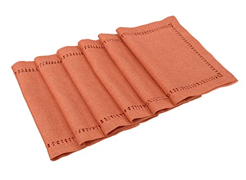 Grelucgo Set of 6 Orange Table Place mats for Thanksgiving Fall Autumn Holidays, Rectangular 12 by 18 - Place Fall