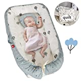DOLDOA Baby Lounger for Newborn,Baby Nest for Bedroom,Portable Infant Bassinet Sleeper Bed for Co-Sleeping,Cotton Soft and Breathable Printed Baby Snuggle Cocoon Crib for Bedroom/Travel/Camping