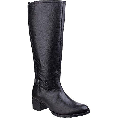 Ankle amp; Slip Black Durham Womens Fleet On ladies Foster Leather Boots YqwfS8