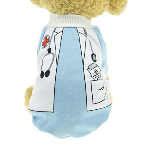 MUYAOPET Doctor Dog Costume Winter Warm Dog Shirt Clothes Dog Hoodies Sweatshirts for Small Dogs (M, Doctor) ()