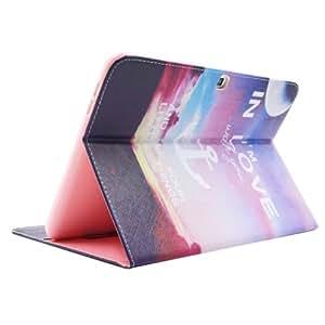 Anchor Pattern Funda Leather Case Cover lápiz capacitivo para pantalla táctil con Holder & & Wallet bolsillos internos para Samsung Galaxy Tab 10,1/Tu
