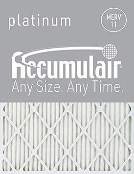 19.5x24.5x1.75 6 Pack Accumulair Platinum 20x25x2 MERV 11 Air Filter//Furnace Filters