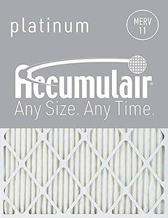 2 Pack Actual Size MERV 8 Air Filter//Furnace Filter Accumulair Gold 18.25x22x1