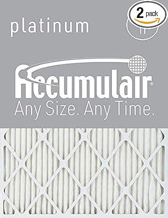 2 Pack MERV 13 Air Filter//Furnace Filters Accumulair Diamond 30x36x2 29.5x35.5x1.75