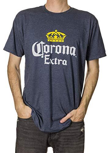 Crown Mens T-shirt - Corona Extra Men's Crown Logo T-Shirt (Small, Blue)