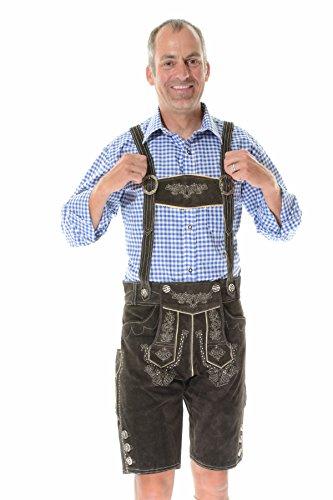 Tracht German Lederhosen Outfit Costumes BERGKRISTALL - 36 - Dark brown