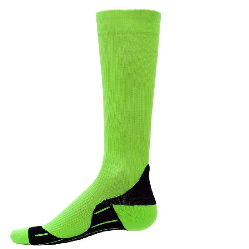 Red Lion Neon Glide Courir Chaussettes de compression (Neon Green - Medium)