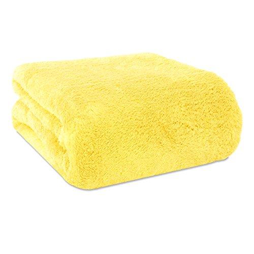Berkshire Blanket Compact Extra-Fluffy™ Throw, Lemon