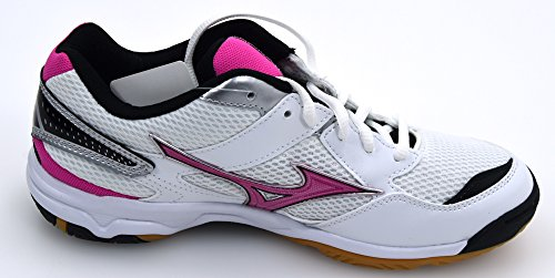Twister Scarpe Volleyball Arte art Fuxia Fuxia V1gc157063 White fuxia Twister Da Mizuno Bianco Scarpa Pallavolo Tennis Shoes Bianco V1gc157063 Mizuno 4 4 Bianco Onda Sneaker Woman fuxia Wave Donna gxI7Y