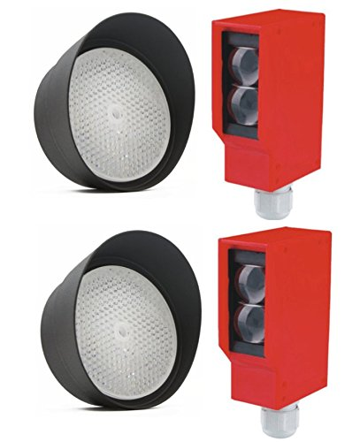 AMAZING BEAM Photo Safety Beam (2), Beam Sensor, Beam Detector, Photo Beam, Photo Switch, Garage Door Sensor, UNIVERSAL