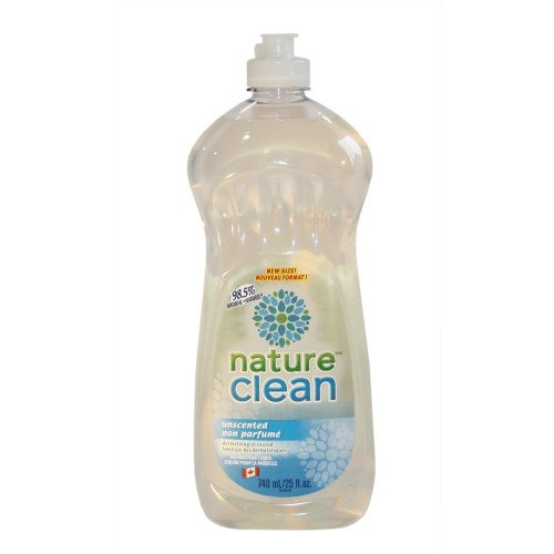 Dishwashing Liquid Unscented -740ml Brand: Nature Clean - Canadian