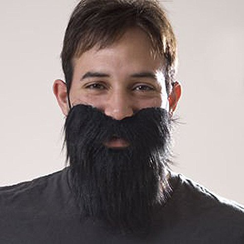 Black Fake Mustache Beard For Halloween Party by