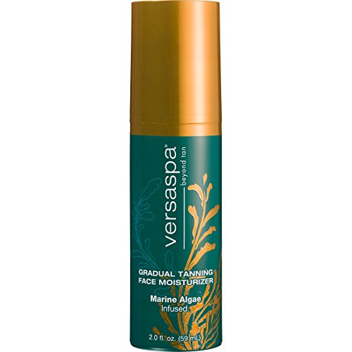 Versa Spa Gradual Tanning Face Moisturizer for Streak-free Natural Glow, 2 fl.oz.
