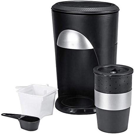 WOHAO Máquina de café Express Mini portátil Fabricante automático Individual Copa de Goteo Cafetera con Recorrido de la Taza de Apagado automático garrafa Brewer (Color: Negro, tamaño: un tamaño): Amazon.es: Hogar