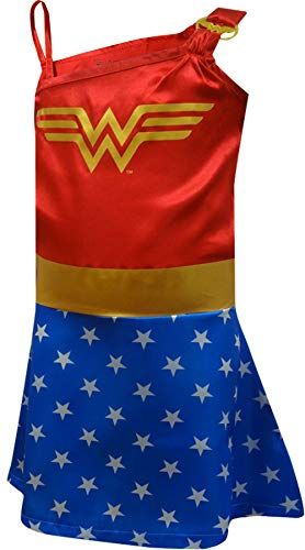 DC Comics Little Girls' Wonder Woman Costume Pajama Nightgown, Blue, -