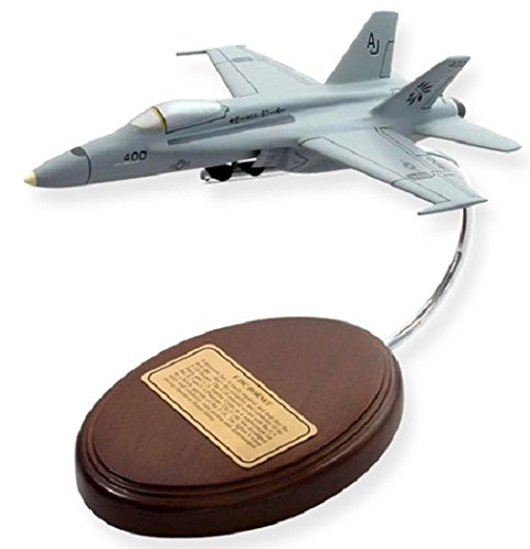 Model Classic Handcrafted Wooden Toy (F-18 Hornet Navy Aircraft Model - Classic Desktop Decor - Retirement Military Gifts)