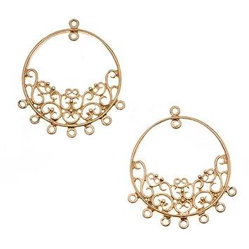 22k gold vermeil filigree hoop heavy chandelier earring findings 22k gold vermeil filigree hoop heavy chandelier earring findings 40mm aloadofball Gallery