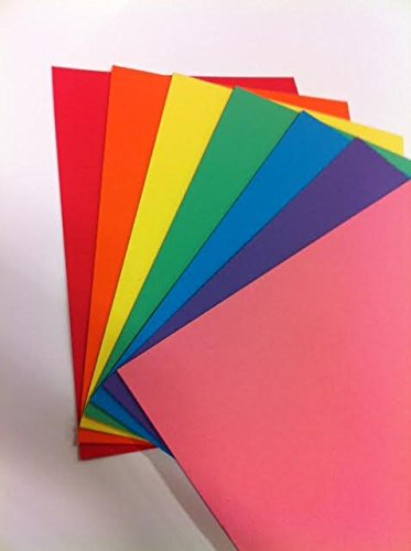 RAINBOW Intensive A4 160 gsm Bright Rainbow Coloured Card (Pack of 70 Sheets) House of Card & Paper