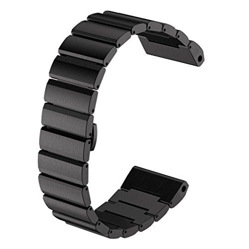 VESNIBA 2017 Metal Stainless Steel Watch Wrist Band Strap for Garmin Fenix 3/HR - Watch 24 Hr Wrist