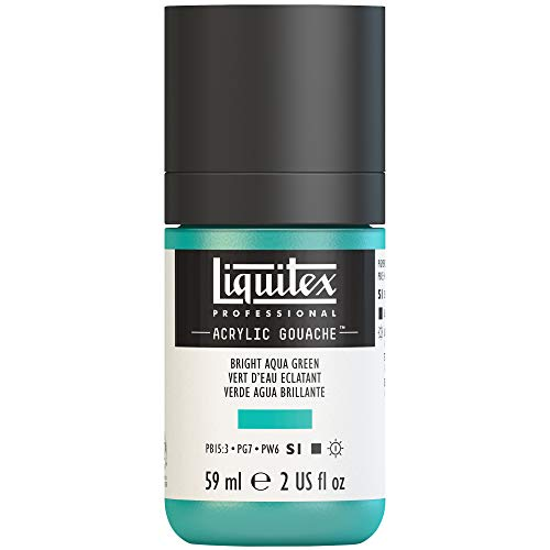 Liquitex Professional Acrylic Gouache 2-oz bottle, Bright Aqua ()