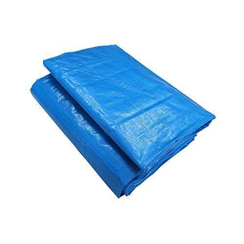 Blue and White Rainproof Cloth Waterproof Cloth Shed Cloth Thick Canvas Tarpaulin Waterproof Cloth Rain Cloth Rain Cloth (Color : Blue, Size : 8x10m)