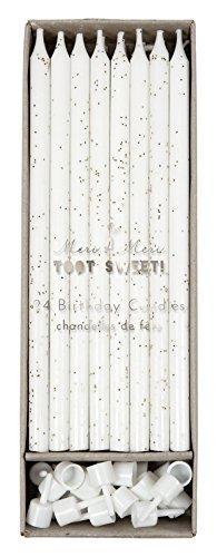 Meri Meri Birthday Candles, 24 Candles (Silver)