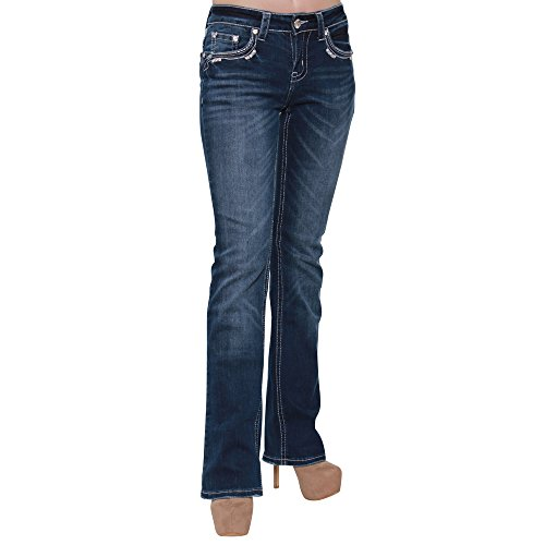Embroidery Bootcut Womens Jeans - 2