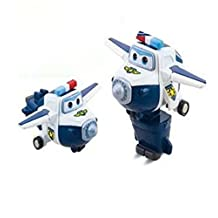 EastVita Auldey Super Wings Mini Deformation Robot- Police Paul