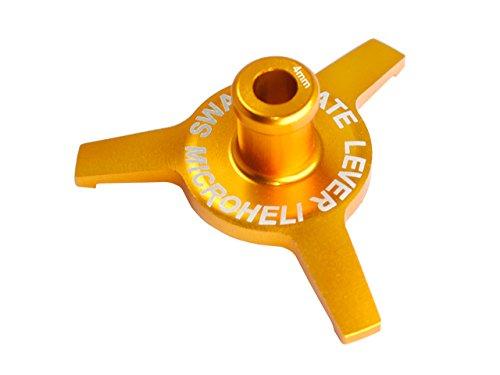 Microheli CNC Aluminum Swashplate Leveler (GOLD) - BLADE 230S / 250CFX