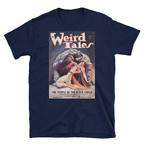 (Margaret Brundage Weird Tales Unisex T-Shirt The People of The Black Circle Good Girl Art Pulp Fiction Vintage Magazine Cover)
