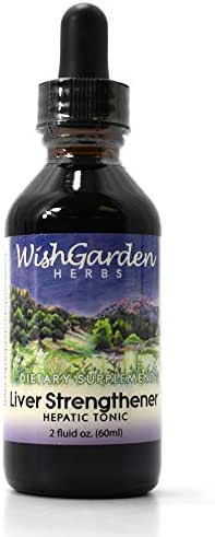 WishGarden Herbs — Liver Strengthener Hepatic Tonic — Gluten Free — 2 oz Dropper Top