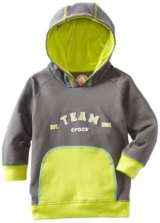 Crocs Unisex Baby Casual Hoodie, Charcoal Citrus, 12 Months