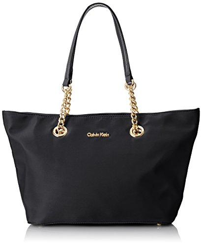 09155a8d275 Calvin Klein Nylon Zipper Tote,Black/Gold,One Size: Amazon.ca: Clothing &  Accessories