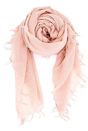 Chan Luu Cashmere & Silk Scarf in Cameo Rose by Chan Luu